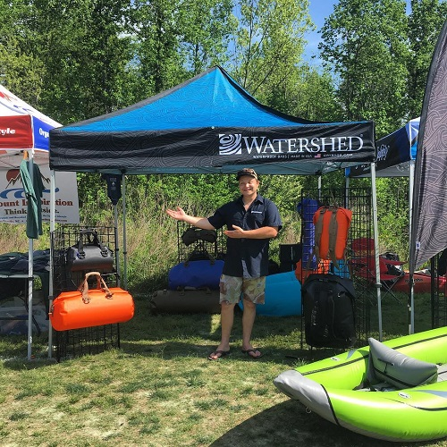 Watershed Drybags Booth at Tuck Fest 2017