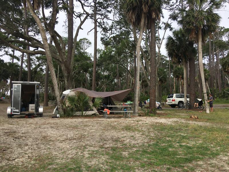 Camping on Hunting Island