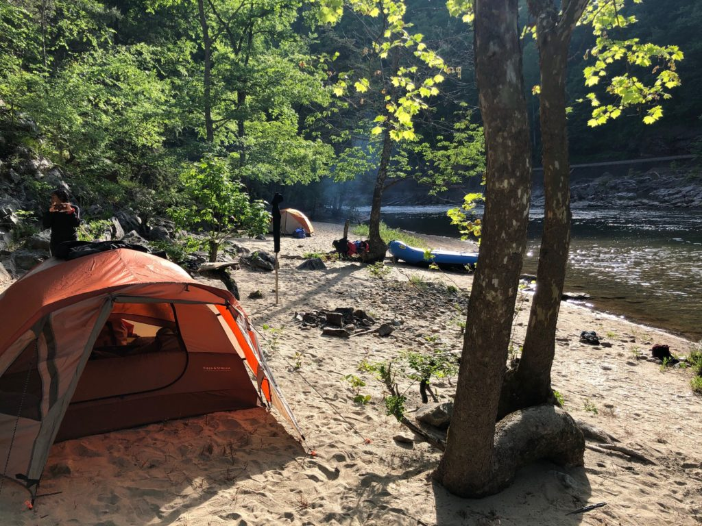 Camping on the Nolichucky